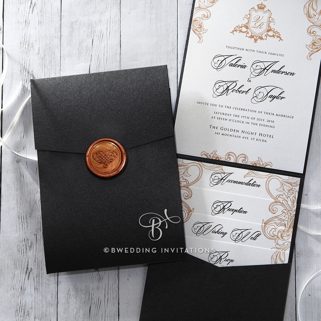 32+ Elegant Image of Pocket Wedding Invitation