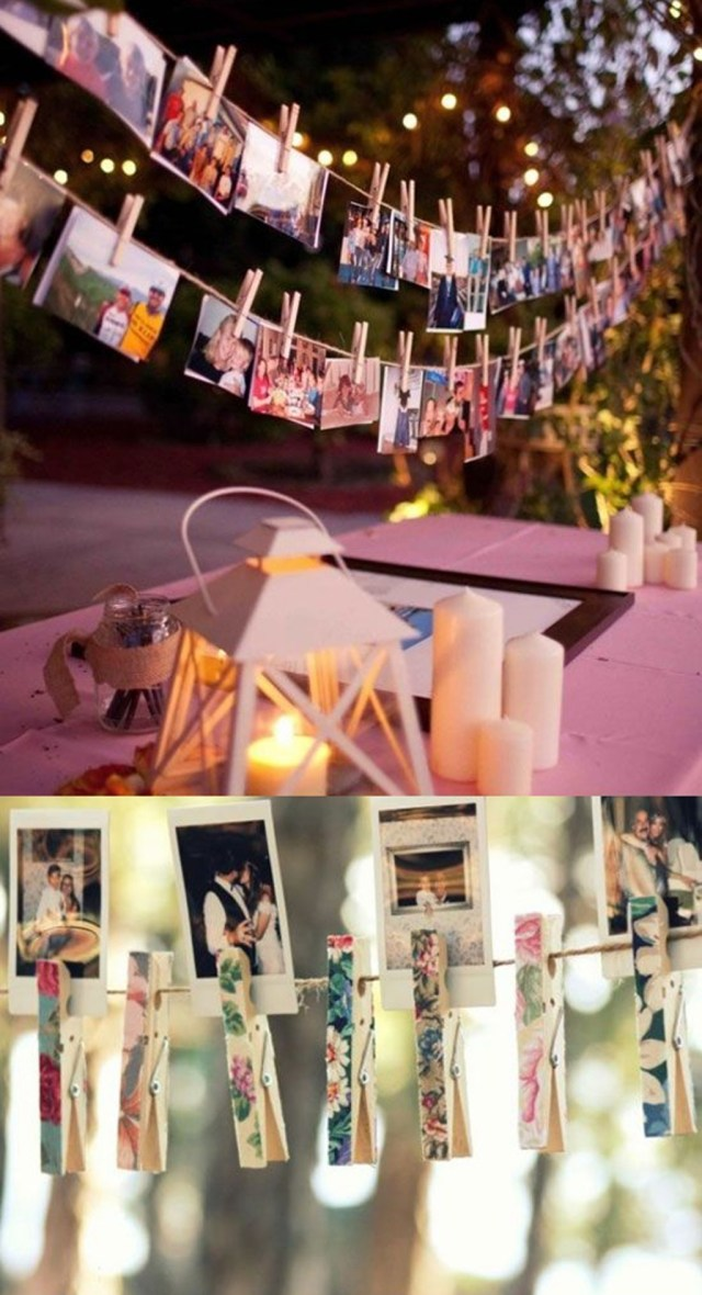 Poloroid Wedding Ideas Decorating Diy Clip Polaroids To Wedding String Ideas 25 Cheap