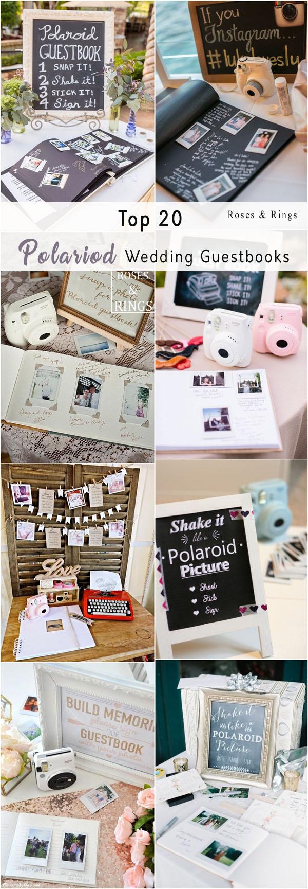 Poloroid Wedding Ideas Unique Polaroid Wedding Guestbook Ideas Roses Rings Weddings