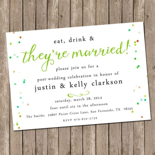 Post Wedding Brunch Invitations Awesome And Stunning Post Wedding Invitations Themormonbox