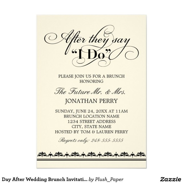 Post Wedding Brunch Invitations Day After Wedding Brunch Invitation Wedding Vows 5 X 7