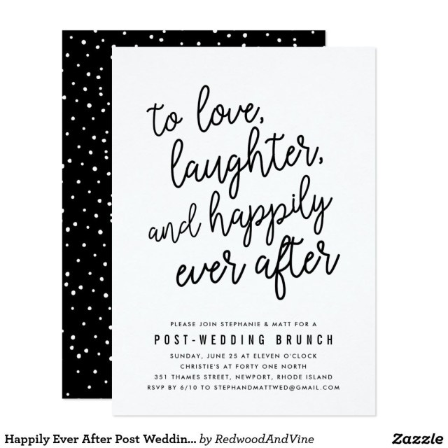 Post Wedding Brunch Invitations Happily Ever After Post Wedding Brunch Invitation Soon To Be Mrs