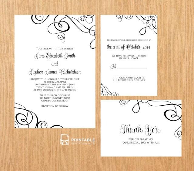 Printable Wedding Invitation Kits 25 Free Printable Wedding Invitations