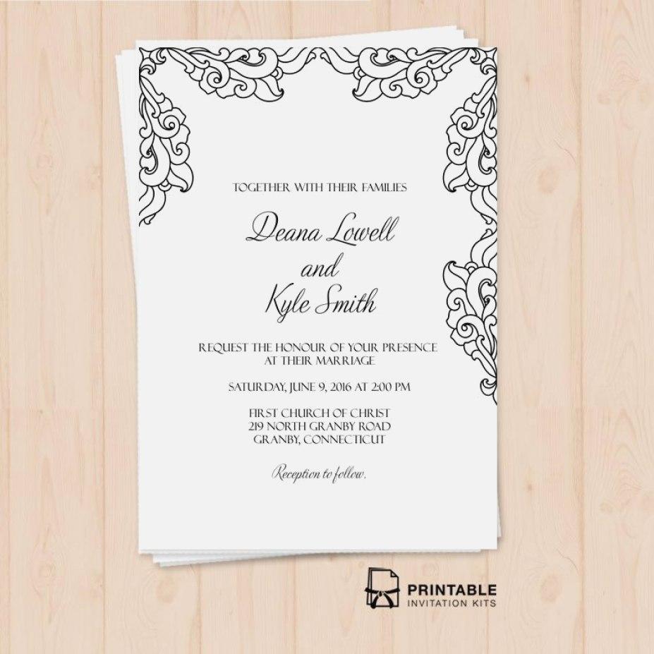 image about Printable Invitation Kits called Printable Marriage ceremony Invitation Kits Brides Wedding ceremony Invitation