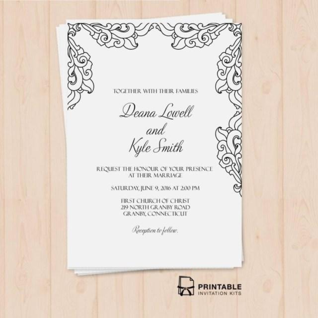 Printable Wedding Invitation Kits Brides Wedding Invitation Kits Luxury Free Pdf Vintage Side Border