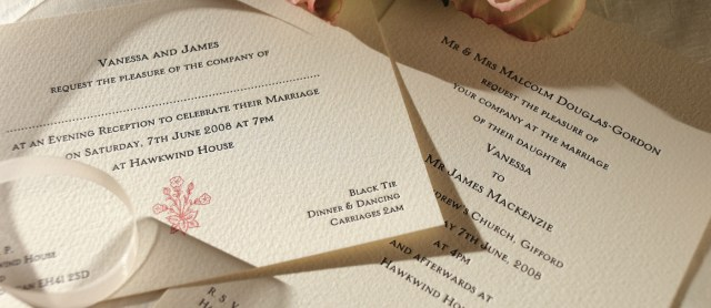 Printed Wedding Invitations Motif Personalised Wedding Invitations The Letter Press