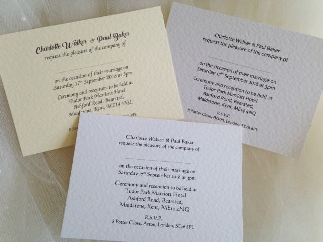 Printed Wedding Invitations Printed Wedding Invitations For 60p Each