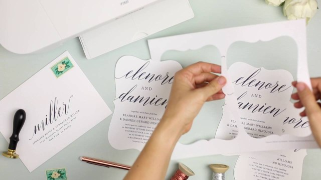 Printing Your Own Wedding Invitations How To Print Your Own Wedding Invitations At Home With Everly Card