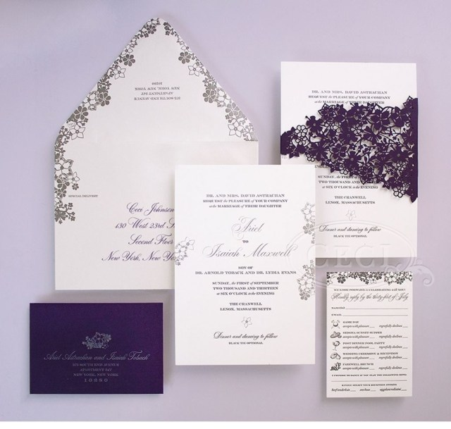 Purple And Silver Wedding Invitations Purple And Silver Wedding Invitations Wedding Pinterest Silver