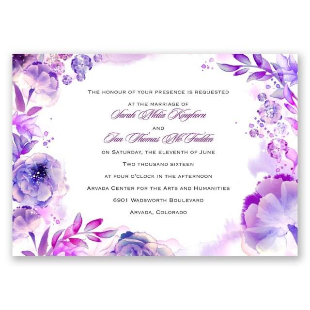 Purple And Silver Wedding Invitations Purple Wedding Invitations Invitations Dawn