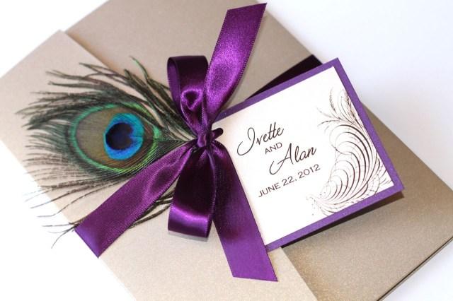 Purple Wedding Invitation Kits Peacock Wedding Invitations Kit Purple Wedding Invitation Designs