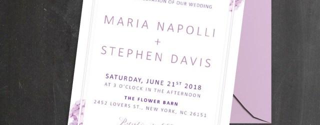 Purple Wedding Invitation Kits Purple Wedding Invitation Kits Card Invitation Design Online
