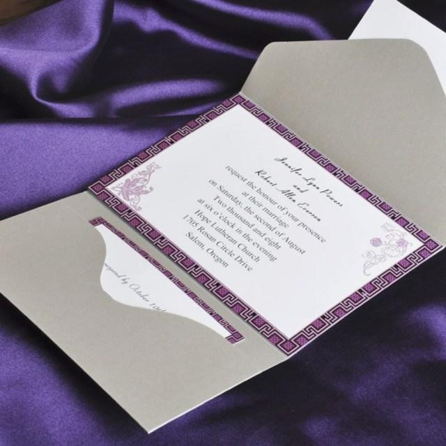 Purple Wedding Invitation Kits Purple Wedding Invitations Kits Lovely Elegant Purple And Gray