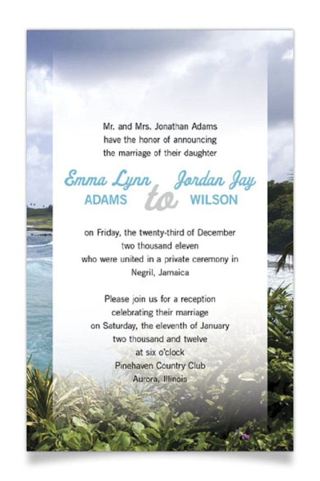 Reception Invitation Wording After Private Wedding Pre Wedding Party Invitation Private Invitation Ideas In 2018