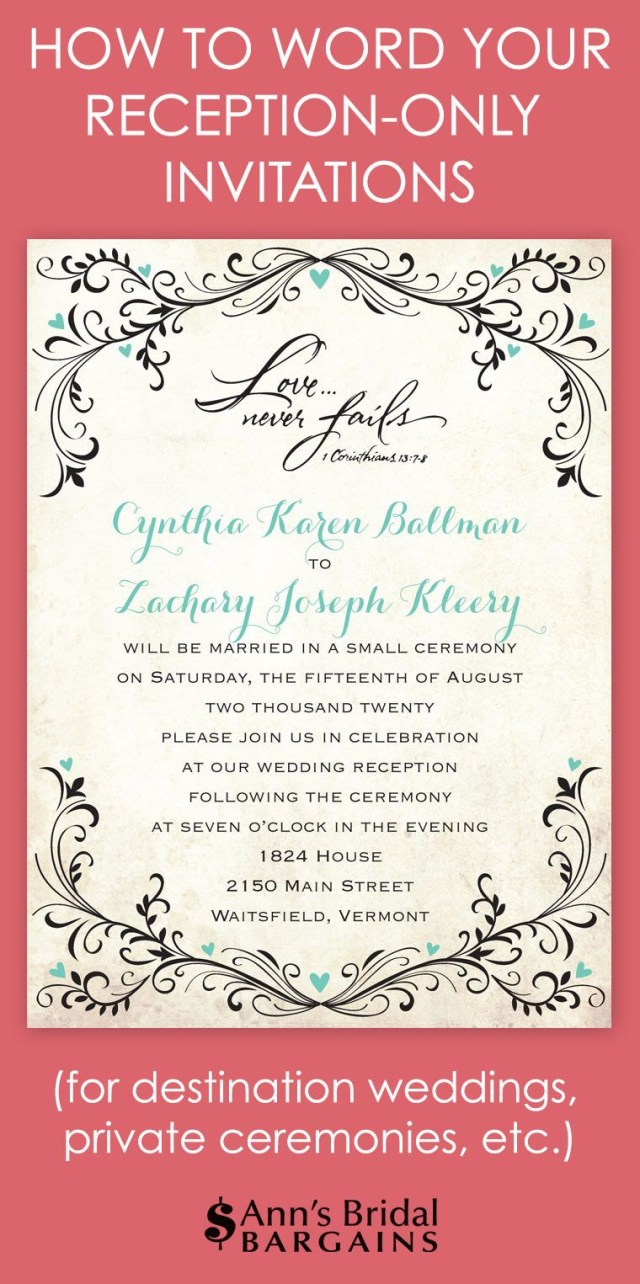 Reception Invitation Wording After Private Wedding Reception Invitation Wording After Private Wedding Luxury Whether