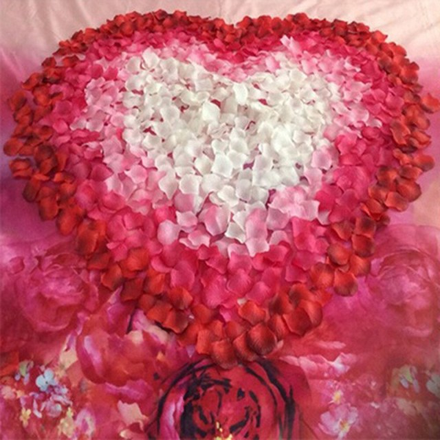 Recycled Wedding Decorations 500 Pcs Artificial Flower Diy Handmade Rose Petals Recycled Wedding
