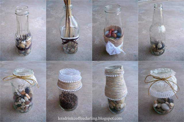 Recycled Wedding Decorations Lets Drink Coffee Darling Wedding Decoration Details Flowers Vases