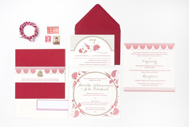 Red And Gold Wedding Invitations Amritha Joshs Red And Gold Letterpress Wedding Invitations