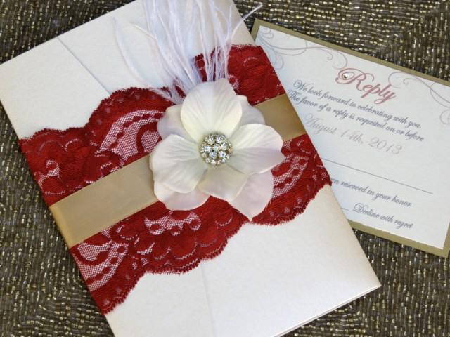 Red And Gold Wedding Invitations Invitations 122014 Wedding Invitations Wedding Lace Wedding