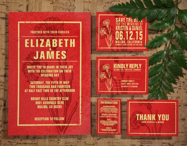 Red And Gold Wedding Invitations Printable Rustic Red Gold Wedding Invitations Setsuite Invites