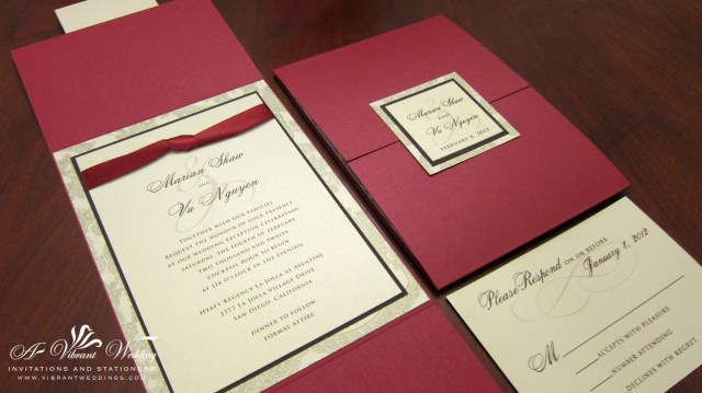 Red Wedding Invitations Professional Red And Gold Wedding Invitations Lenq