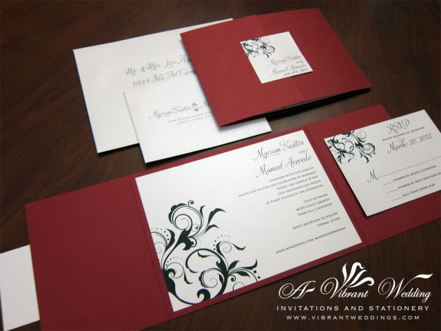 Red Wedding Invitations Red And Gold Wedding Colors Red Wedding Invitation A Vibrant