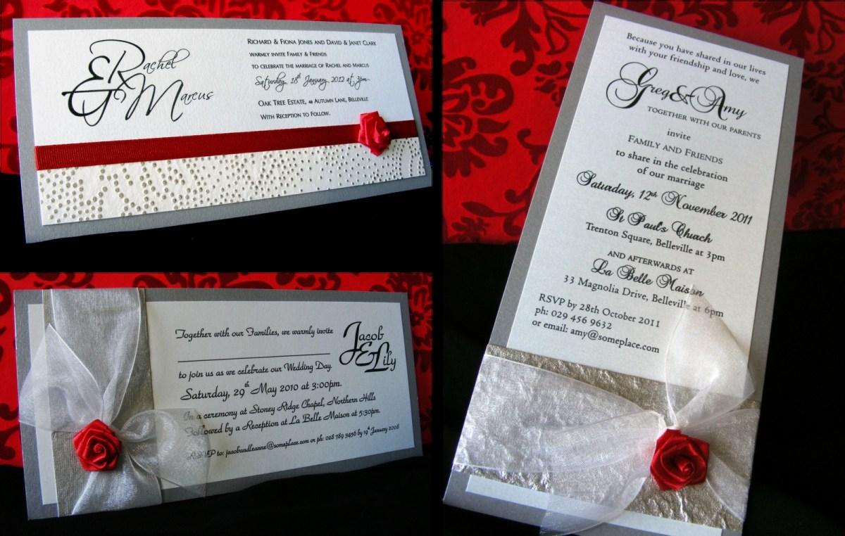 Red Wedding Invitations Red Wedding Invitation