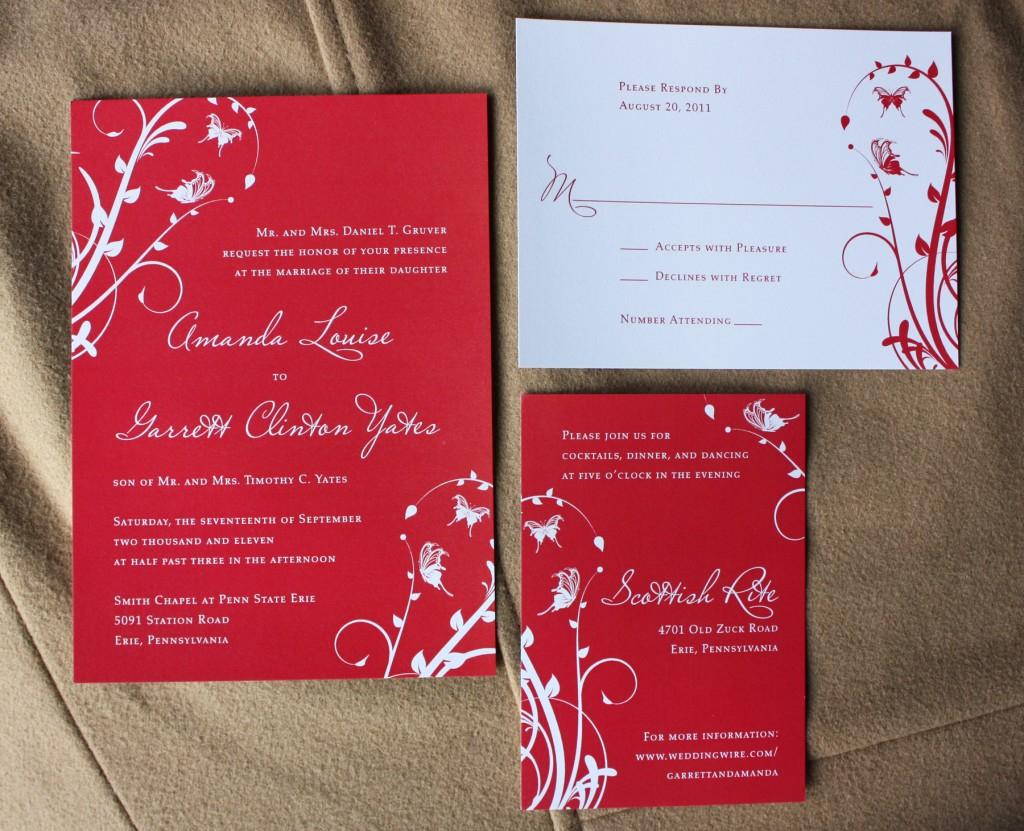 Red Wedding Invitations Red Wedding Invitations Red Wedding Invitations Of Attractive