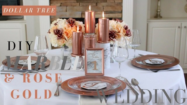 Rose Gold Wedding Decorations Diy Marble Rose Gold Wedding Decorations Dollar Tree Wedding
