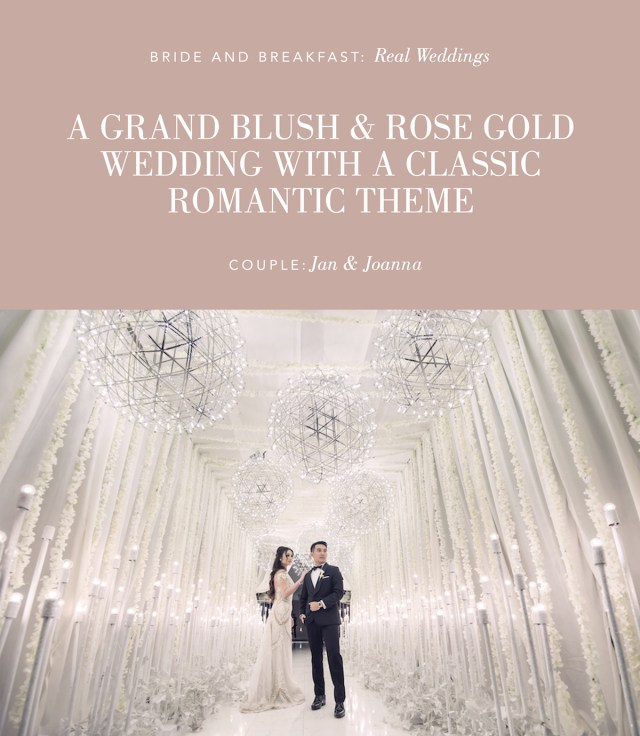 Rose Gold Wedding Decorations Grand Blush And Rose Gold Wedding Philippines Wedding Blog