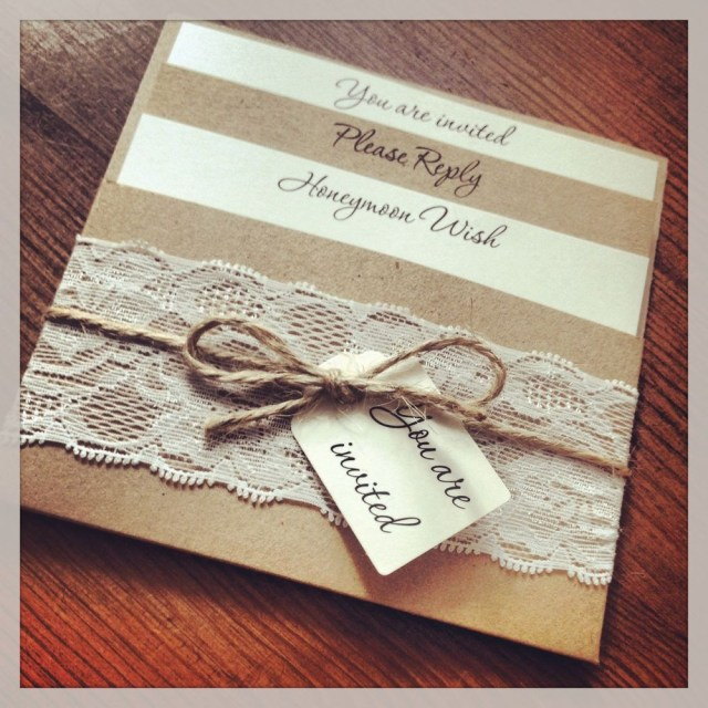 Rustic Chic Wedding Invitations Diy 1 Vintageshab Chic Style Lace Pocket Rebecca Wedding Invitation