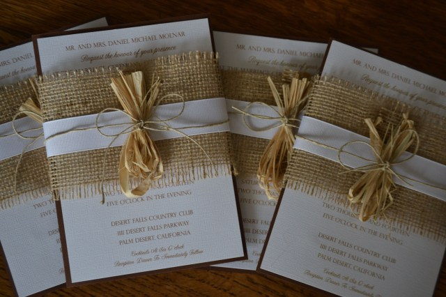 Rustic Chic Wedding Invitations Diy Diy Wedding Invitations Burlap Ribbon Twine Rustic Chic