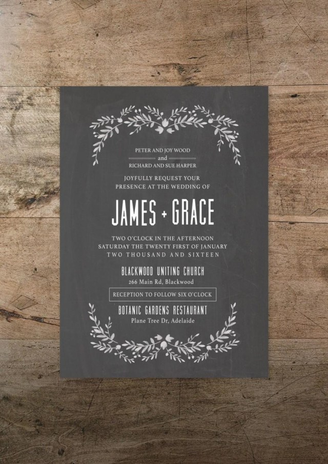 Rustic Chic Wedding Invitations Diy Printable Wedding Invitation And Rsvp Card Modern Romance Design