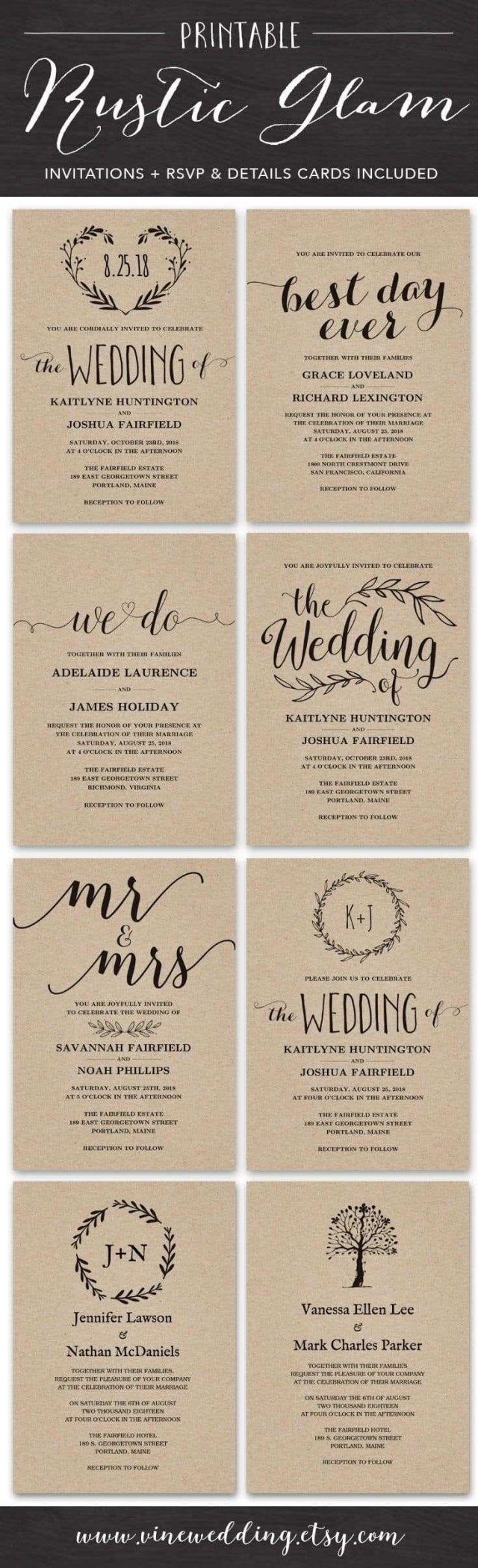 Rustic Chic Wedding Invitations Diy Rustic Chic Wedding Invitations Best Of Maroon Wedding Invitations