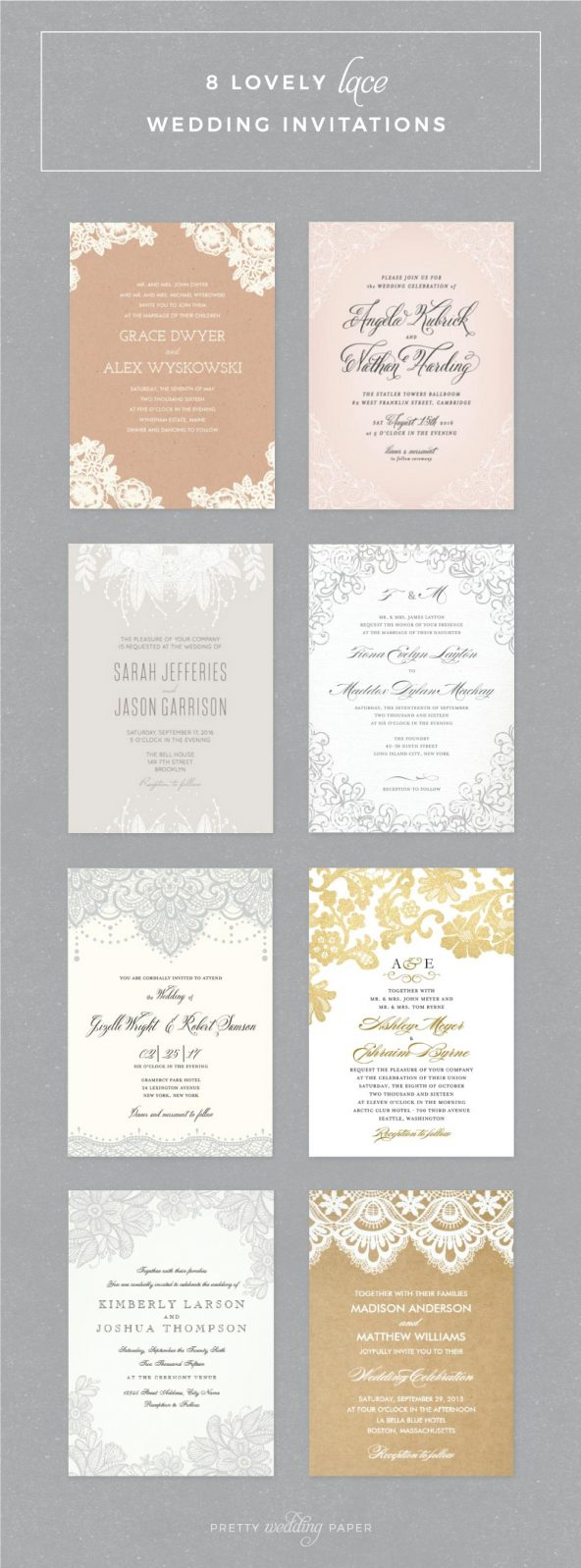 Rustic Lace Wedding Invitations 8 Lovely Lace Wedding Invitations Ideas For Romantic Weddings