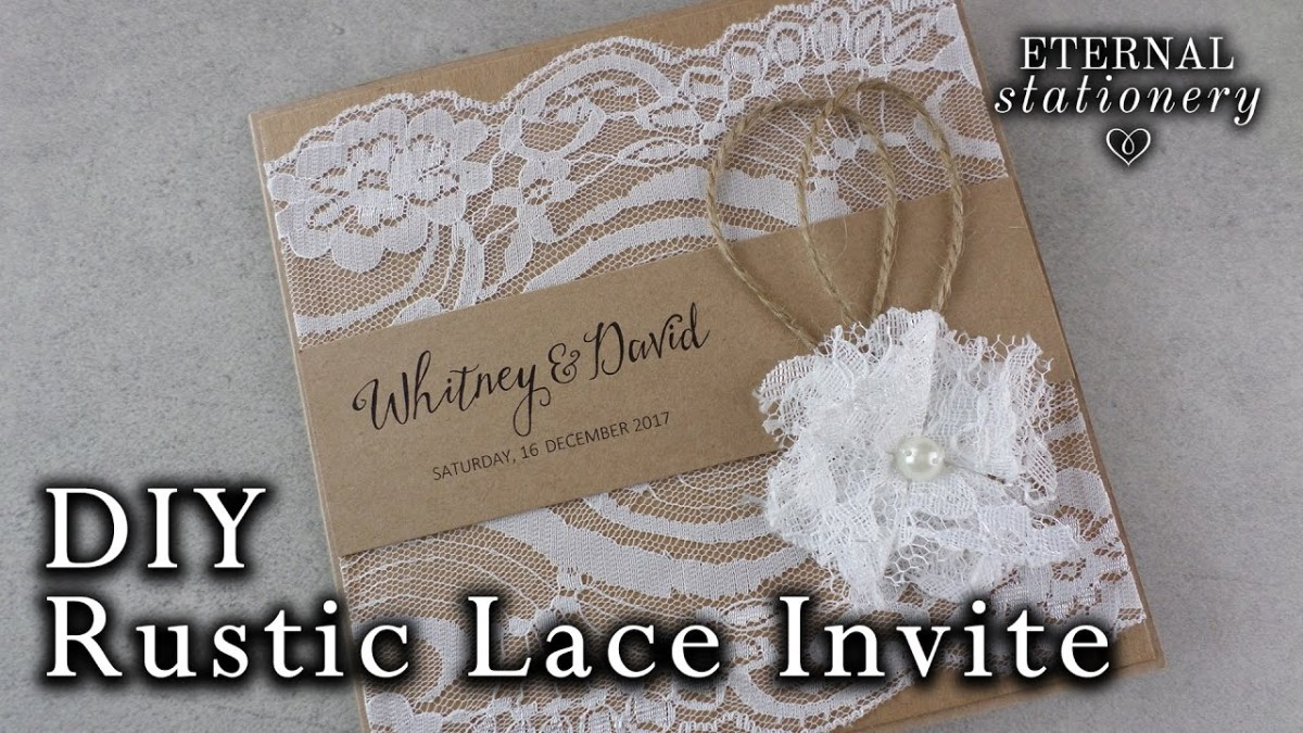 Rustic Lace Wedding Invitations How To Make A Rustic Style Lace Wedding Invitation Diy Invitations