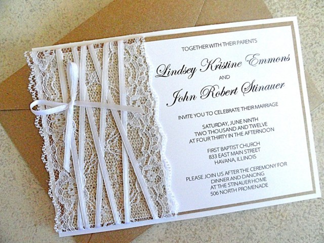 Rustic Lace Wedding Invitations Inspiring Rustic Wedding Invitations Ideas For Your Stunning Rustic