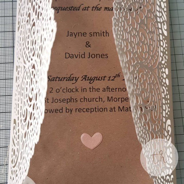 Rustic Lace Wedding Invitations Rustic Lace Gatefold Wedding Invitation Numonday