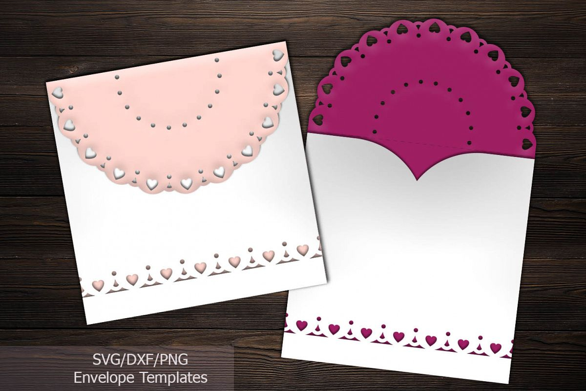 Rustic Lace Wedding Invitations Rustic Lace Wedding Invitation Envelope Laser Cut Template
