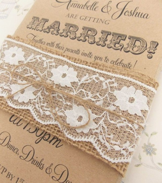 Rustic Lace Wedding Invitations Rustic Lace Wedding Invitations Elegant Rustic Lace Wedding