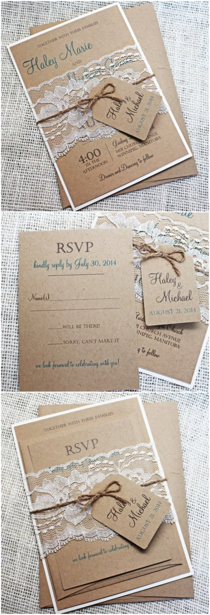Rustic Lace Wedding Invitations Top 10 Rustic Wedding Invitations To Wow Your Guests