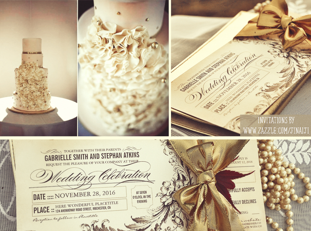 Rustic Vintage Wedding Invitations Chic Vintage Wedding Tickets