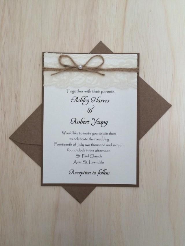 Rustic Vintage Wedding Invitations Rustic Vintage Wedding Invitation Rustic Lace Wedding Invitation