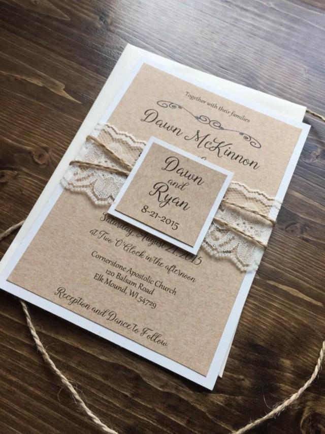 Rustic Vintage Wedding Invitations Rustic Wedding Invitation Vintage Wedding Invitation Lace Wedding