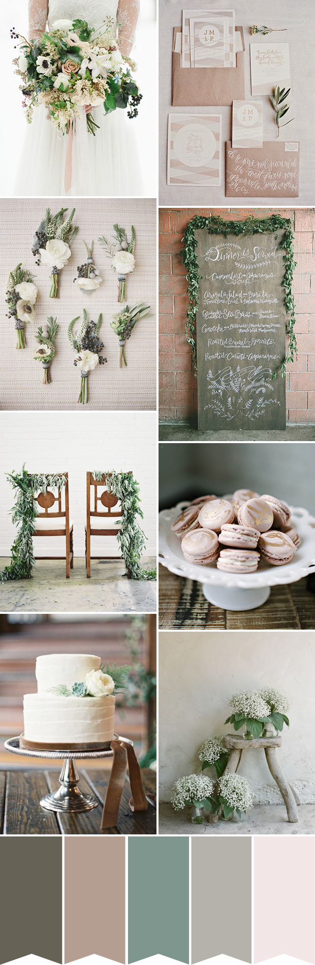 Rustic Wedding Colors Natural Elegance A Beautiful Rustic Wedding Palette Onefabday