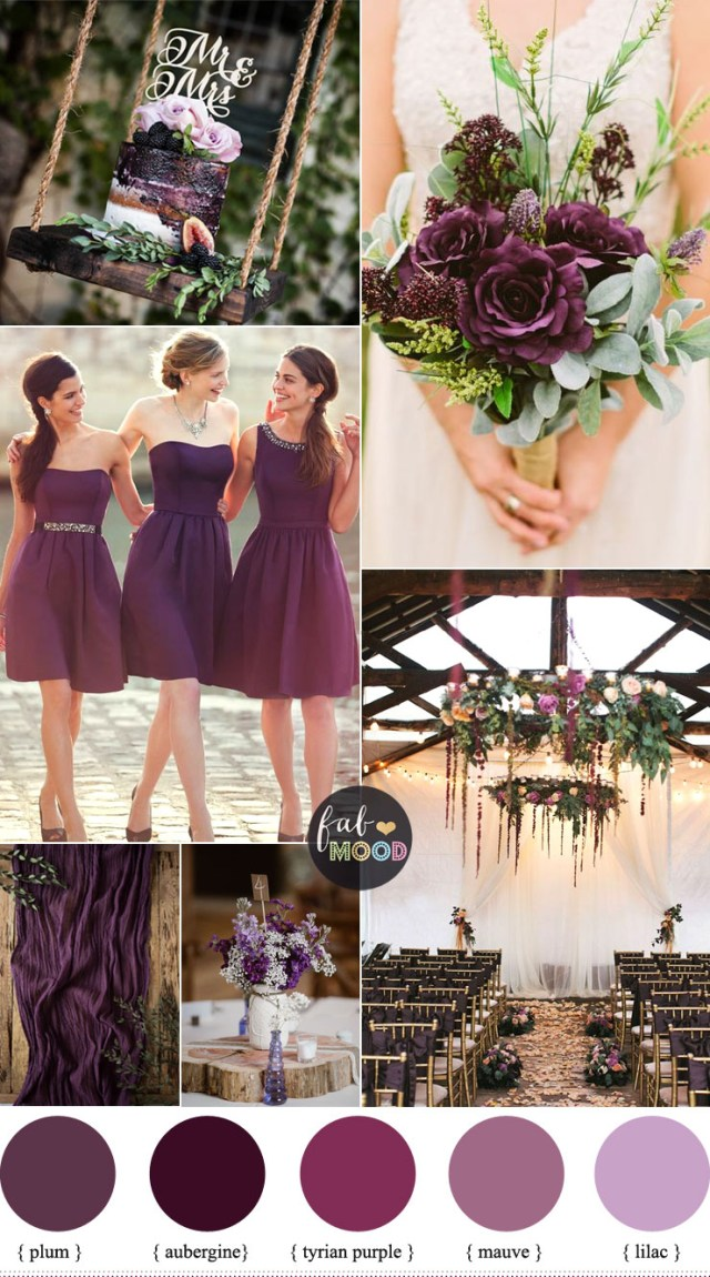 Rustic Wedding Colors Plum Wedding Color For Rustic Wedding Lilac Mauve Wedding Palette