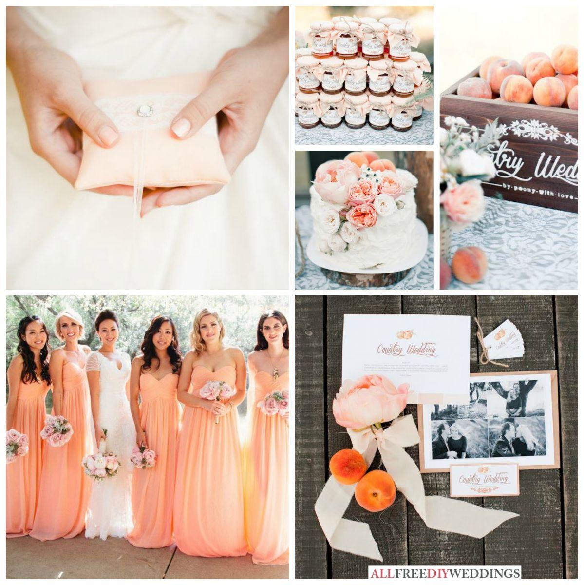 Rustic Wedding Colors Spring Wedding Colors Peach Allfreediyweddings