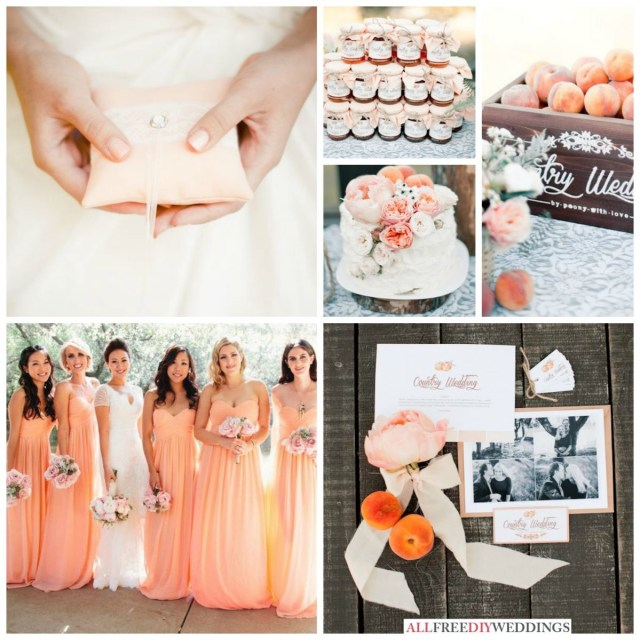 Rustic Wedding Colors Spring Wedding Colors Peach Allfreediyweddings