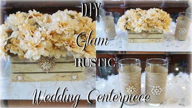 Rustic Wedding Decor Diy Diy Rustic Glam Wedding Centerpiece Ft Tottaly Dazzled Bling Gems