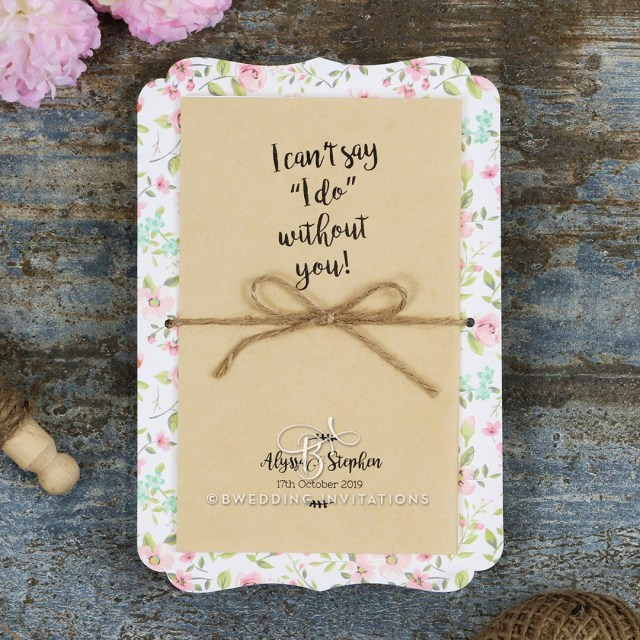 Rustic Wedding Invitation Charming Blossoms Wedding Invitation On A Rustic Canvas De